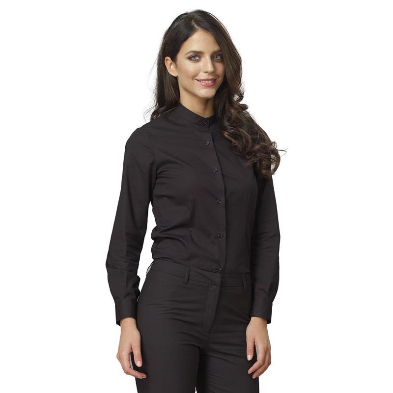 official photos bc5fe cf133 Abbigliamento : Camicia coreana donna nera