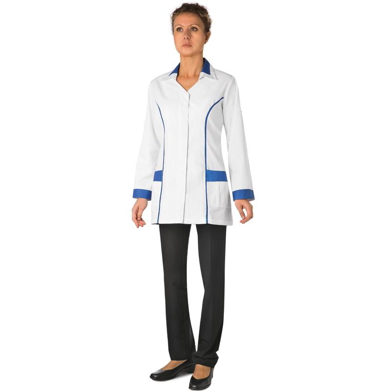 the best attitude 25b26 3977b Abbigliamento : Casacca donna bianca profili blu