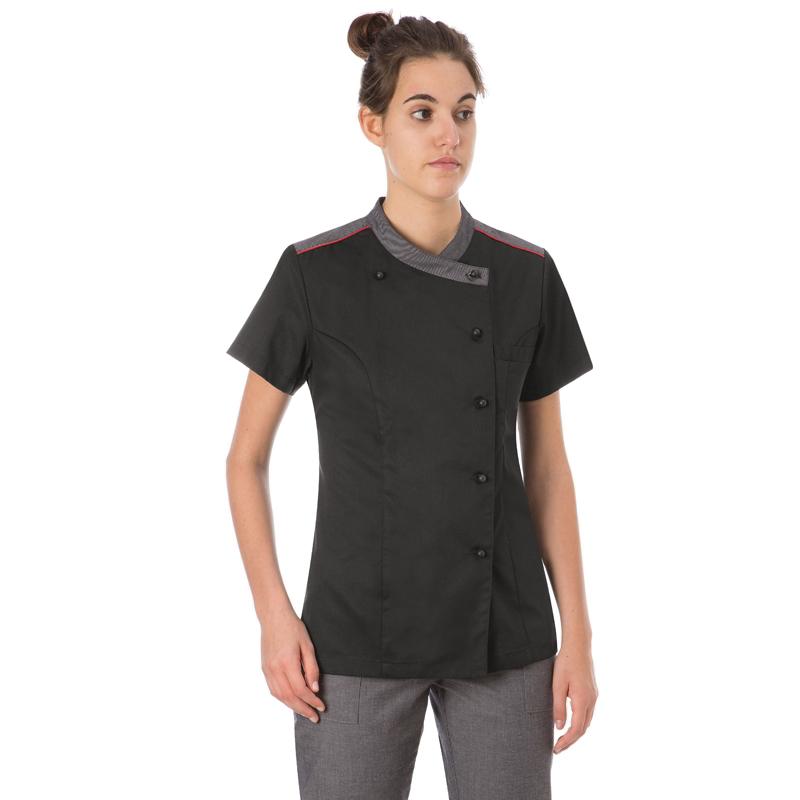 Abbigliamento giacca donna cucina nera - Normativa abbigliamento cucina ...