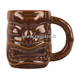 mug-tazza-tiki-marrone